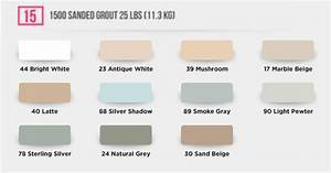 Schluter Jolly Color Chart Laticrete 1500 Sanded Grout