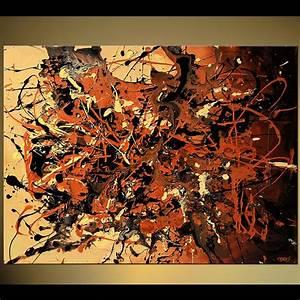 Painting - splash art brown and beige chaos splash #5750