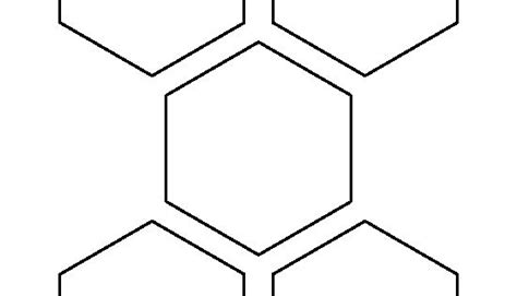 3.5 Inch Hexagon Pattern. Use The Printable Outline For