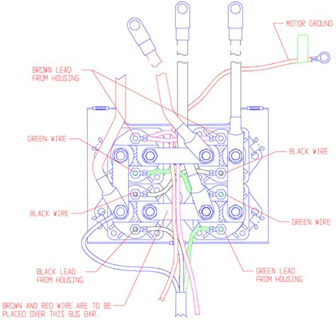 Warn Winch M12000 Wiring Diagram by 24 Vdc 5 Wire Remote Pack Conversion