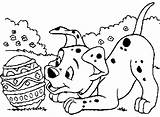 Easter Coloring Egg Dog Colouring Puppy Disney Eggs Dogs Animal Coloriage Tableau Choisir Un sketch template