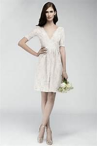 Robe Mariage Dentelle : robe courte mariage en dentelle crue manche courte dos ~ Mglfilm.com Idées de Décoration