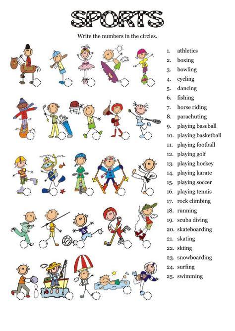 sports interactive worksheet the sports esl
