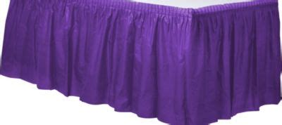 party city table skirts purple plastic table skirt party city
