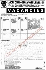 Assistant Manager, Associate Engineer required in LCWU ...