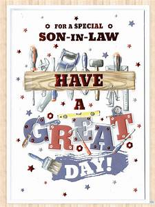 Son In Law Birthday Card With A Diy Tools Theme Free