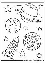 Space Coloring Outer Spaceship Printable Rocket sketch template