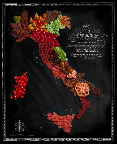 cuisine by region country maps made from traditional foods