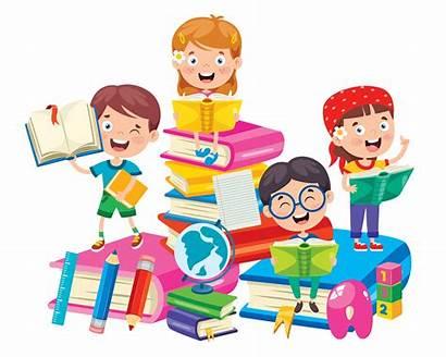 Happy Learning Cartoon Books Children Clipart Dibujos