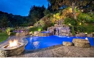 Garten Pool Ideen : garten pool und feuerstelle zusammenstellen 15 ideen ~ Whattoseeinmadrid.com Haus und Dekorationen