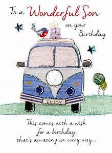 Wonderful Son Birthday Greeting Card Cards Love Kates