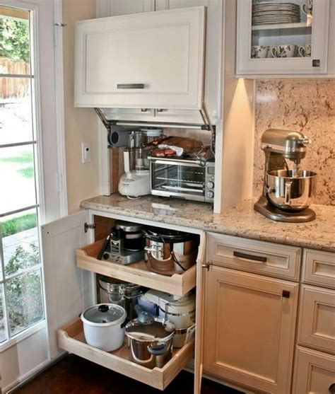 kitchen cabinet ideas for small kitchens 42 creative appliances storage ideas for small kitchens