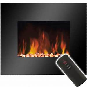 Slimline Wall Mounted Electric Fires  real flame slim wall