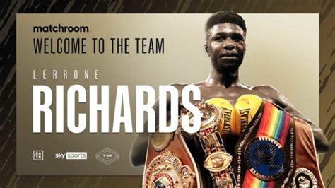 Unbeaten super middleweight Lerrone Richards signs with ...
