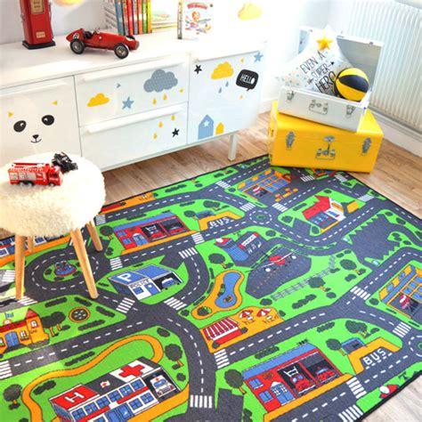 tapis chambre gar n voiture tapis de jeu circuit voiture ville 145 x 200 cm