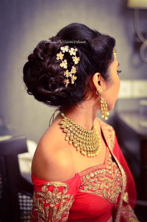 indian brides reception hairstyle  vejetha  swank