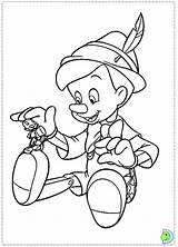 Pinocchio Coloring Drawing Cricket Jiminy Disney Pages Dinokids Clipart Print Clip Close Coloringdisney Library sketch template