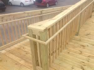 Wood Wheelchair Ramp Construction