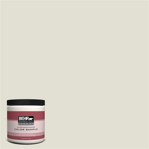 behr premium plus ultra 8 oz 400e 2 turtle dove matte interior exterior paint and primer in