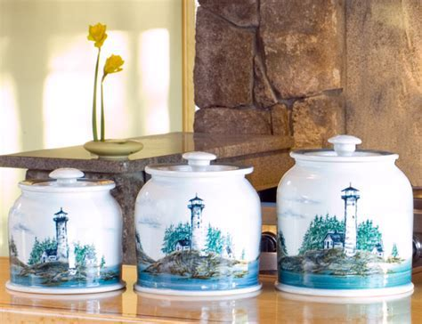 Georgetown Pottery: Canister Set of Three