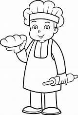 Boulanger Panaderia Turbulus Panadero Profesiones Ocupaciones Oficios Coloringhome Brioches Fonteneau sketch template