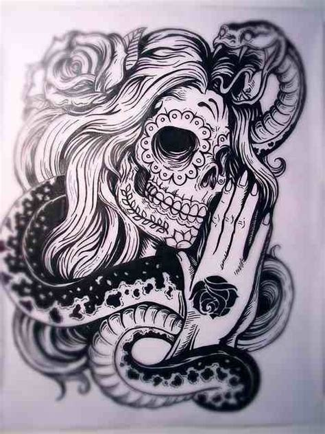 gypsy sugar skull snake rose tattoos pinterest sugar skull snakes  gypsy