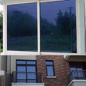 One Way Film : blue window film one way mirrored reflective tint self adhesive privacy glass ~ Frokenaadalensverden.com Haus und Dekorationen