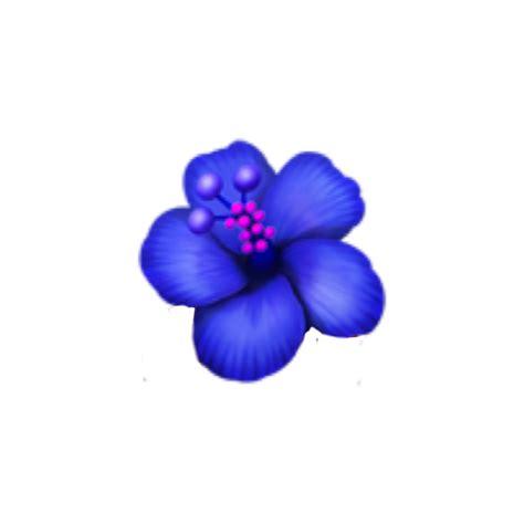 blueflower emoji emojisticker hawaiian