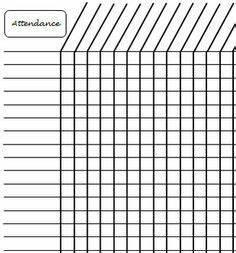 Sunday School Attendance Chart Template Blank Attendance Sheets Class Attendance Sheets Get As