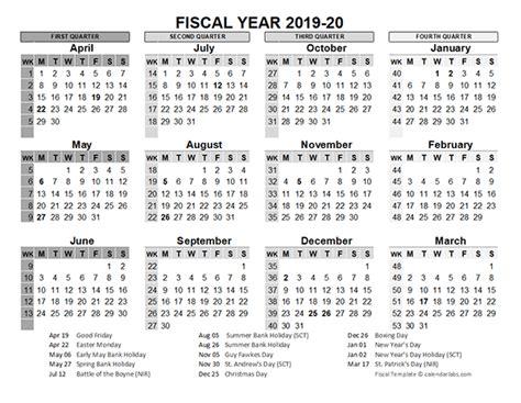 fiscal calendar uk template  printable
