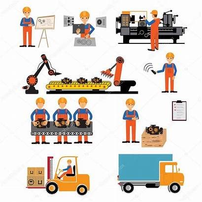 Production Factory Process Illustration Vector