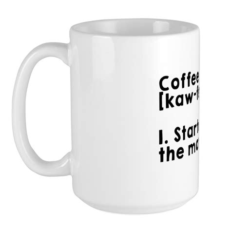 To apply a define coffee coupon, all you have to do is to copy the related code from couponxoo to your clipboard and apply it while checking out. CafePress Coffee Definition Mugs Large Mug (1334114815) | eBay