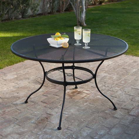 Patio Table by Woodard Stanton 48 In Wrought Iron Patio Dining