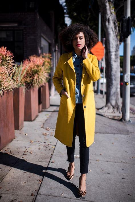 bright yellow coat style  grasie