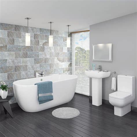 Small Modern Bathroom Ideas Uk by Pro 600 Modern Free Standing Bath Suite In 2019 Bathroom