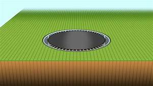 how to install a ground level trampoline youtube With built in floor trampoline