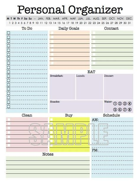 plan daily schedule personal organizer editable daily planner weekly