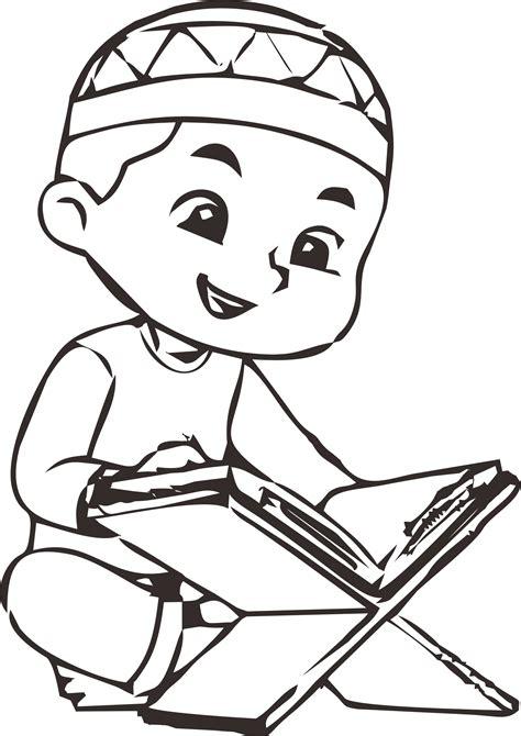 anak muslim  mengaji mewarnaiid