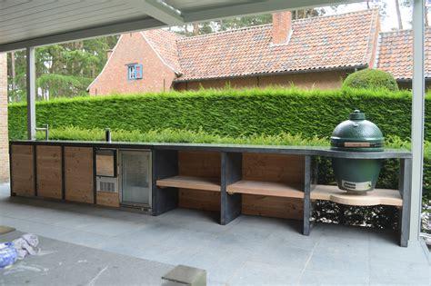 xxl buitenkeuken met terrazzo bladspoelbak keuken voor