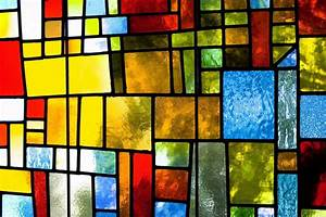 Colorful abstract background stained glass window edition