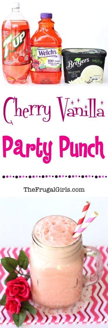 Pink Punch For Baby Shower - cherry vanilla punch recipe from thefrugalgirls