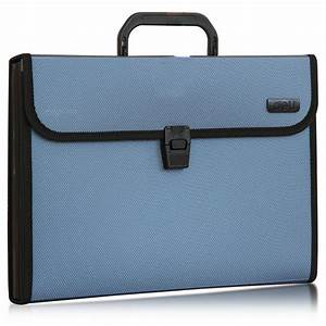 Men hand bag for work folder bag portable a4 multi layer for Document folder bag
