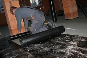Abdichtung Bodenplatte Schweissbahn Unser Haus Entsteht Abdichtung