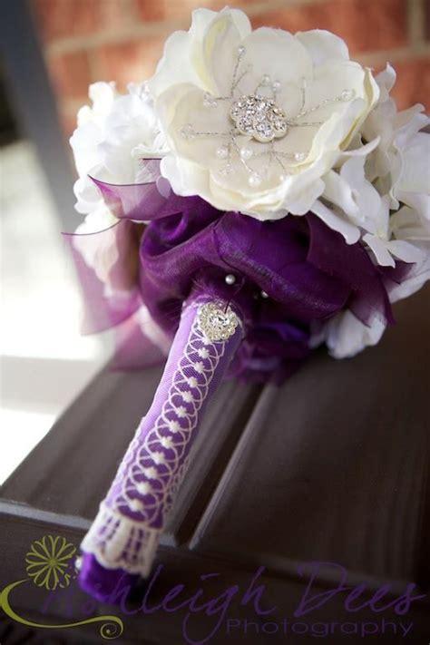 Purple Bridal Bouquet Bling
