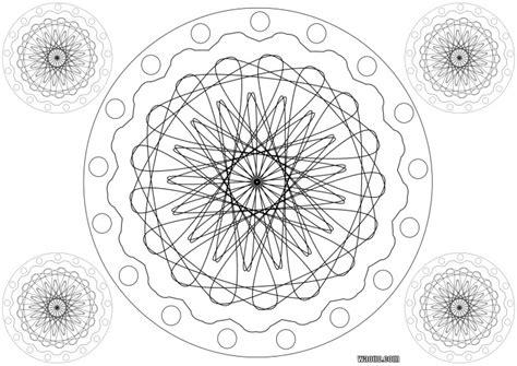 Coloriage Mandala Roue à Imprimer Et Colorier