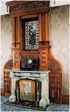 images  antique fireplace mantels  pinterest