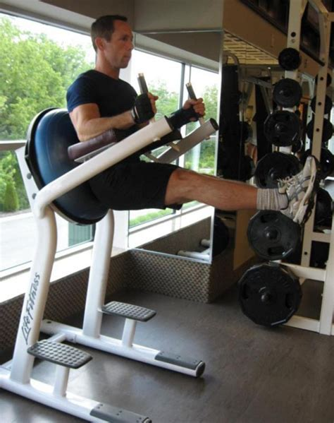 Captains Chair Leg Raise Exercise by 3 Week Workout Plan To Lose Weight