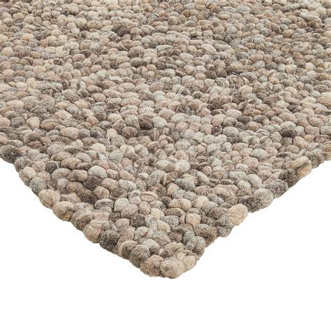 teppich stein teppich kieselsteine wolle filz grau 3 größen läufer