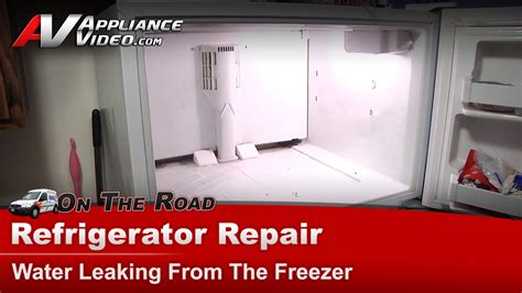 Whirlpool Fridge Leaking Water Onto Floor by Refrigerator Diagnostic Repair Water Leaking Kenmore