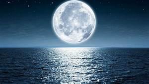 Moon, Sea, Night, Beach, 4k, Hd, Wallpapers